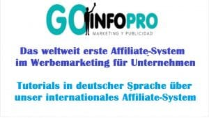 Tutorials über internationalen Affiliate-System von Goinfopro